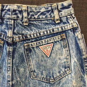 Vintage Guess denim mini-skirt